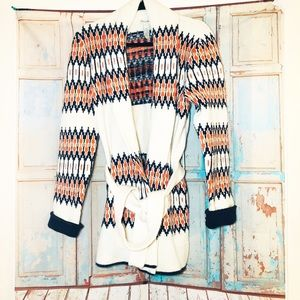 Lucky Brand  western look long cardigan sweater